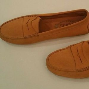 Tod's Orange Suede Gommino Driving Moccasin Loafer